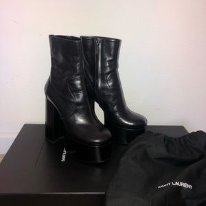 SAINT LAURENT Billy Black Ankle Boots EU39